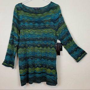 JONES NEW YORK Silky Wonder Blouse 3/4 Sleeves XL